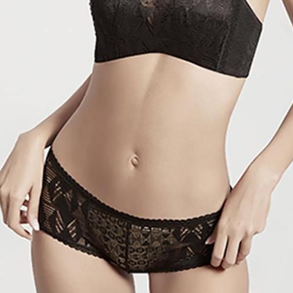 Chiczz Solid color lace openwork breathable seamless low waist Panty