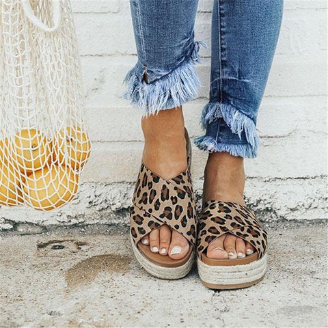 Chiczz Fashion Wild Thick-Soled Slippers