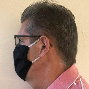 Fabric Face Mask - Black Roosters