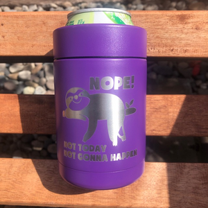 Sloth Beer or Soda Koozie - Ready Made
