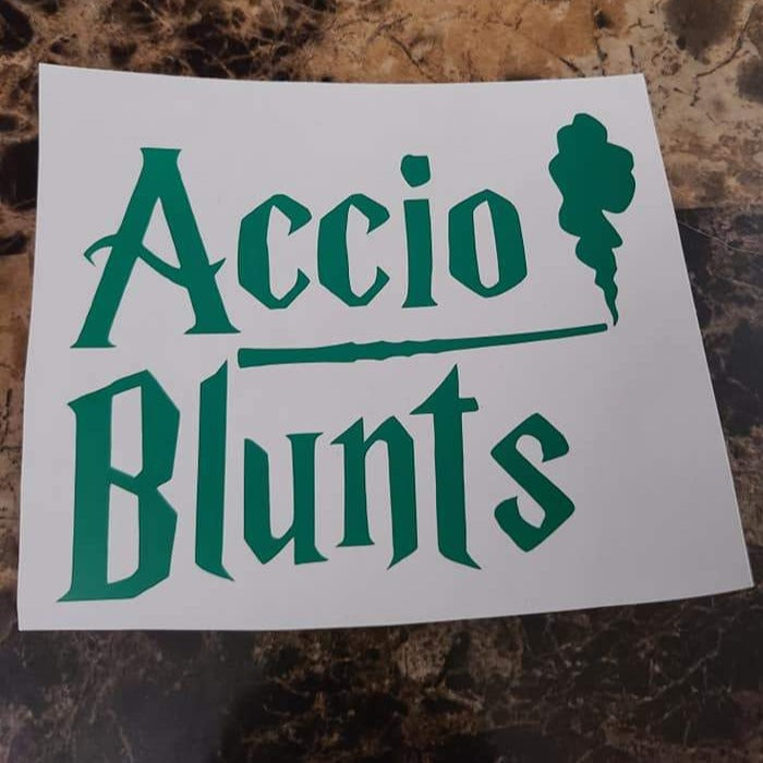 Accio Blunts Vinyl Decal