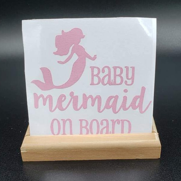 Baby Mermaid on Board Vinyl Decal