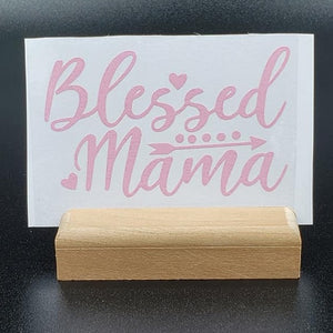 Blessed Mama Vinyl Decal