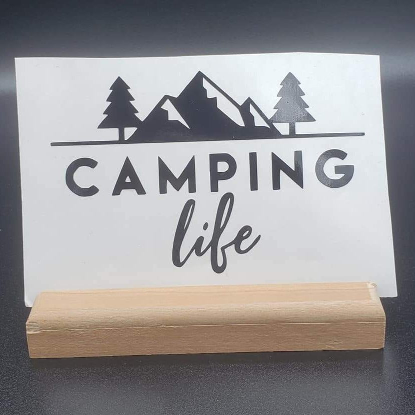 Camping Life Vinyl Decal