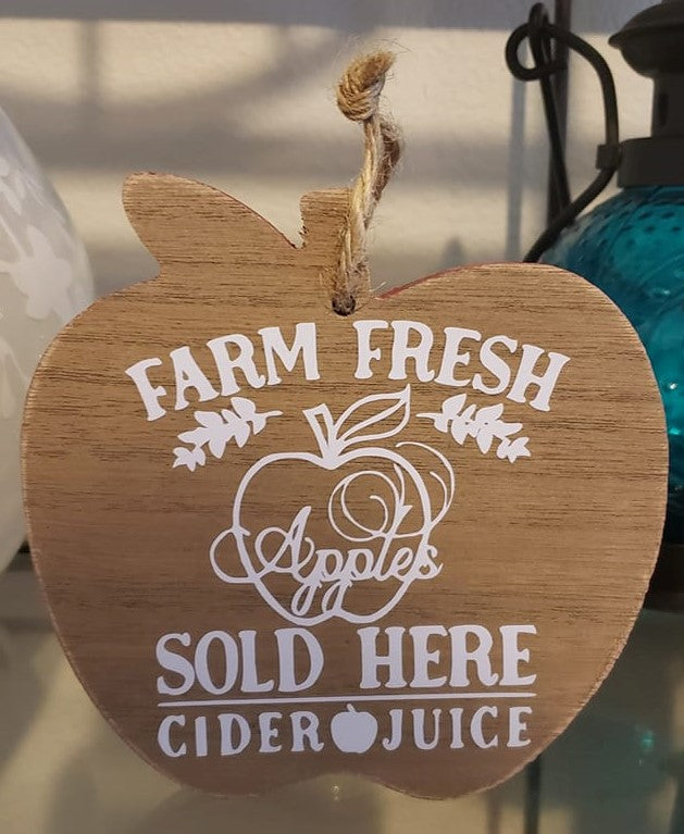 Farm Fresh Apples Small Sign - Ready Made