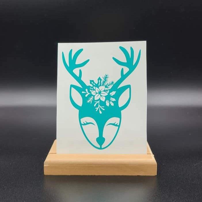 Floral Doe Vinyl Decal