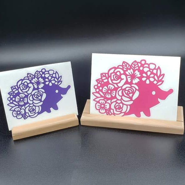 Floral Hedgehog Vinyl Decal