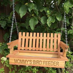Cedar Swing Bird Feeder