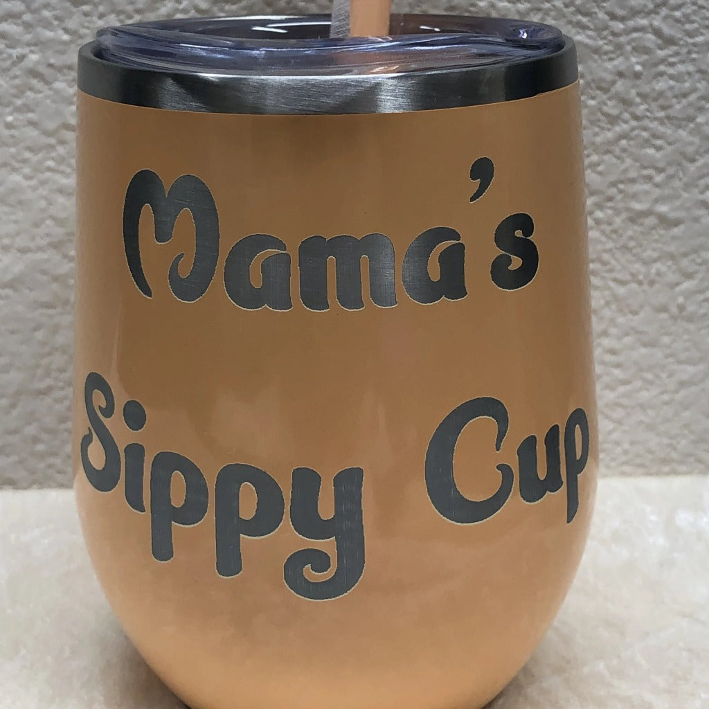 Mama's Sippy Cup Tumbler, 12 oz Wine Maars