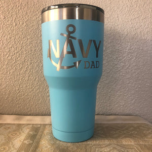 Navy Dad with Anchor Tumbler - Ready Made