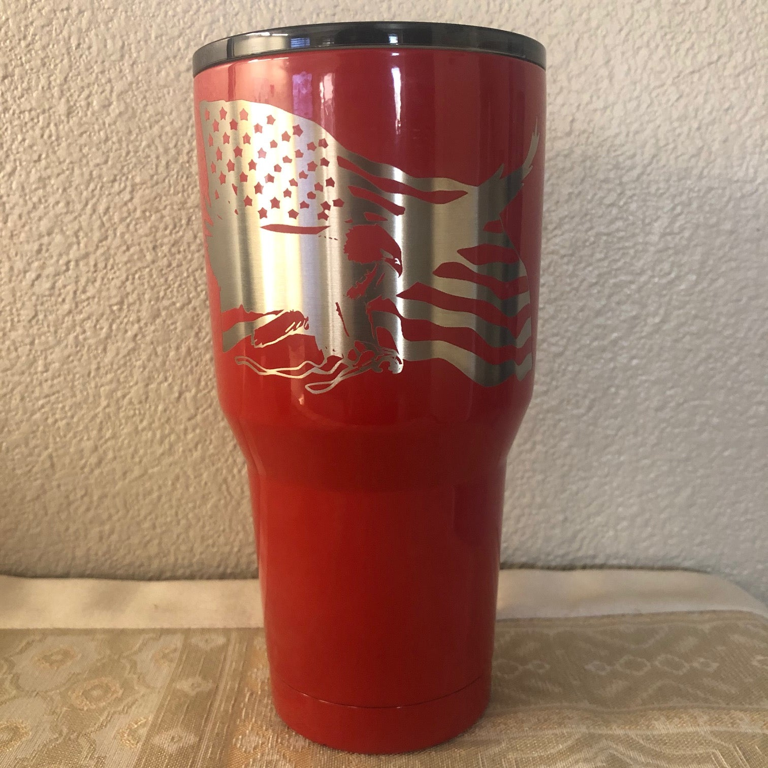 American Eagle with Flag Tumbler - Ready Made