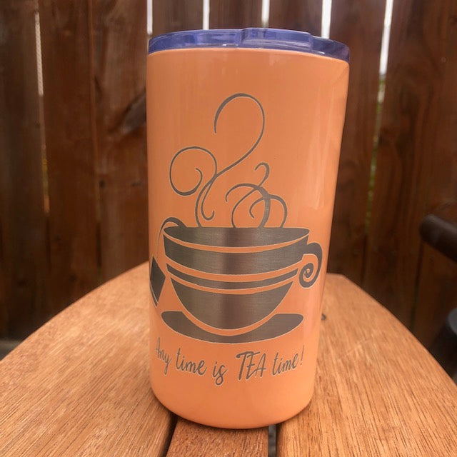 Any time is TEA Time Tumbler - Ready Made