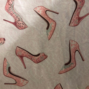 Fabric Face Mask - Pink and Sparkle Hi Heel Shoes