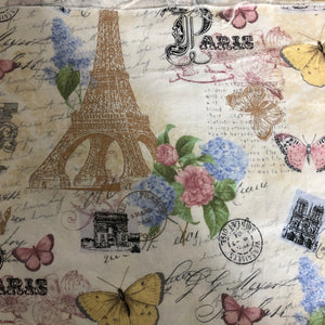 Fabric Face Mask - Eiffel Tower and Butterflies