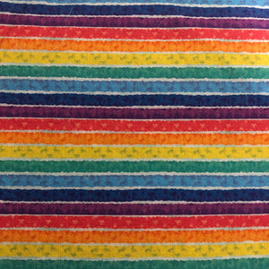 Fabric Face Mask - Rainbow Strips