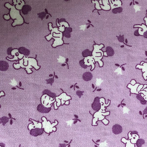 Fabric Face Mask - Lavender Elephants