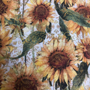 Fabric Face Mask - Autumn Sunflowers