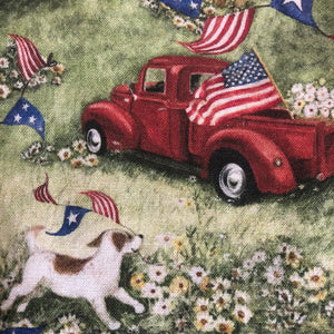 Fabric Face Mask - Vintage Trucks and Dogs