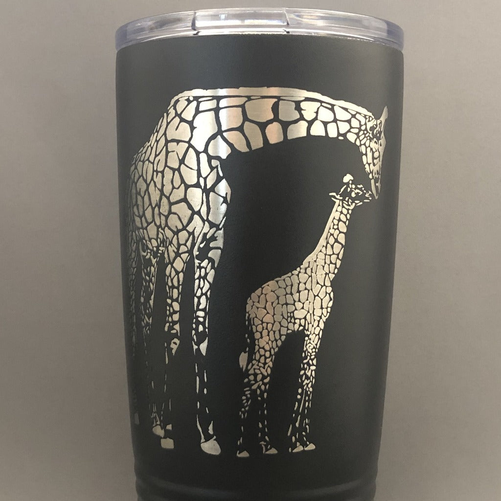 Momma and Baby Giraffe Tumbler, 20 oz polar