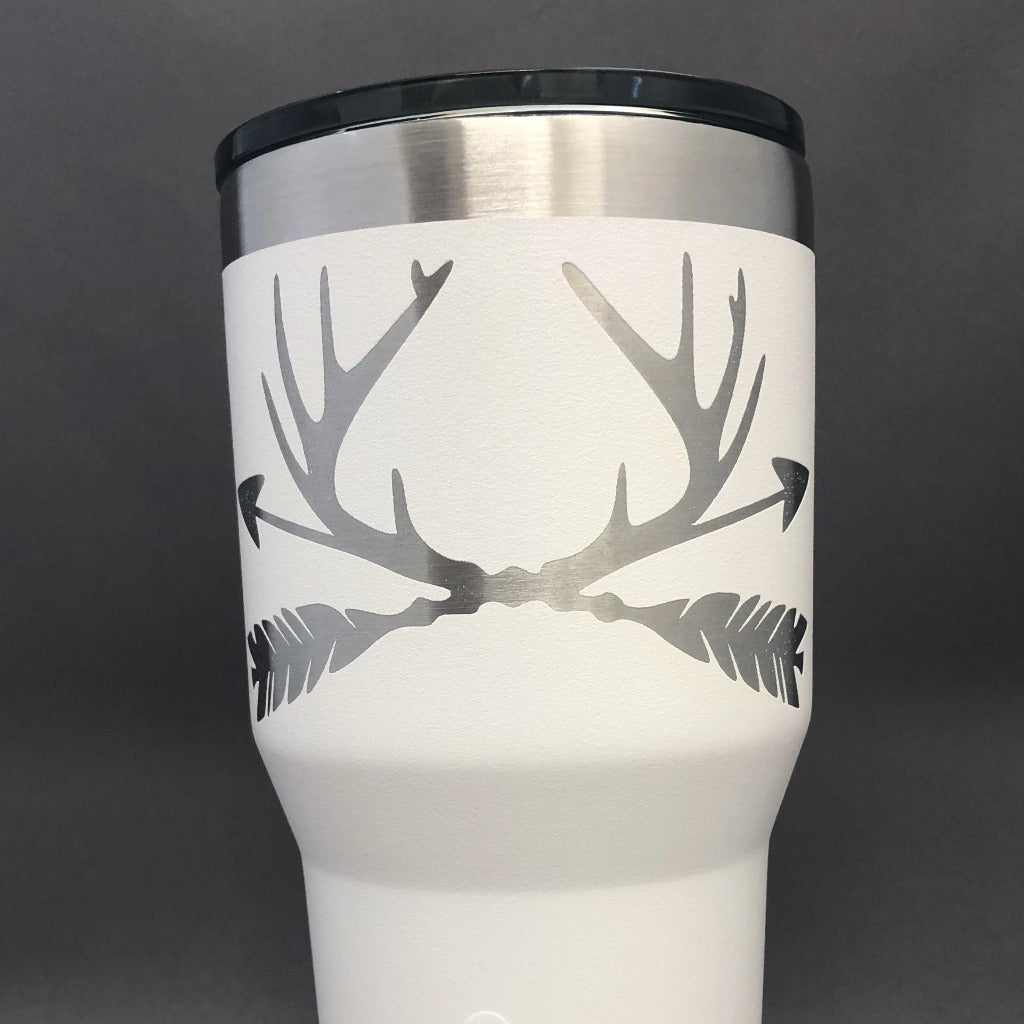 Antler and Arrows Tumbler, 30 oz polar