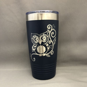 Cute Owl Tumbler, 20 oz polar