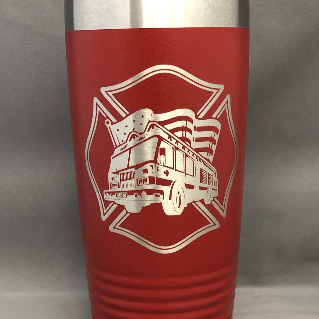 Fire Truck Tumbler, 20 oz polar