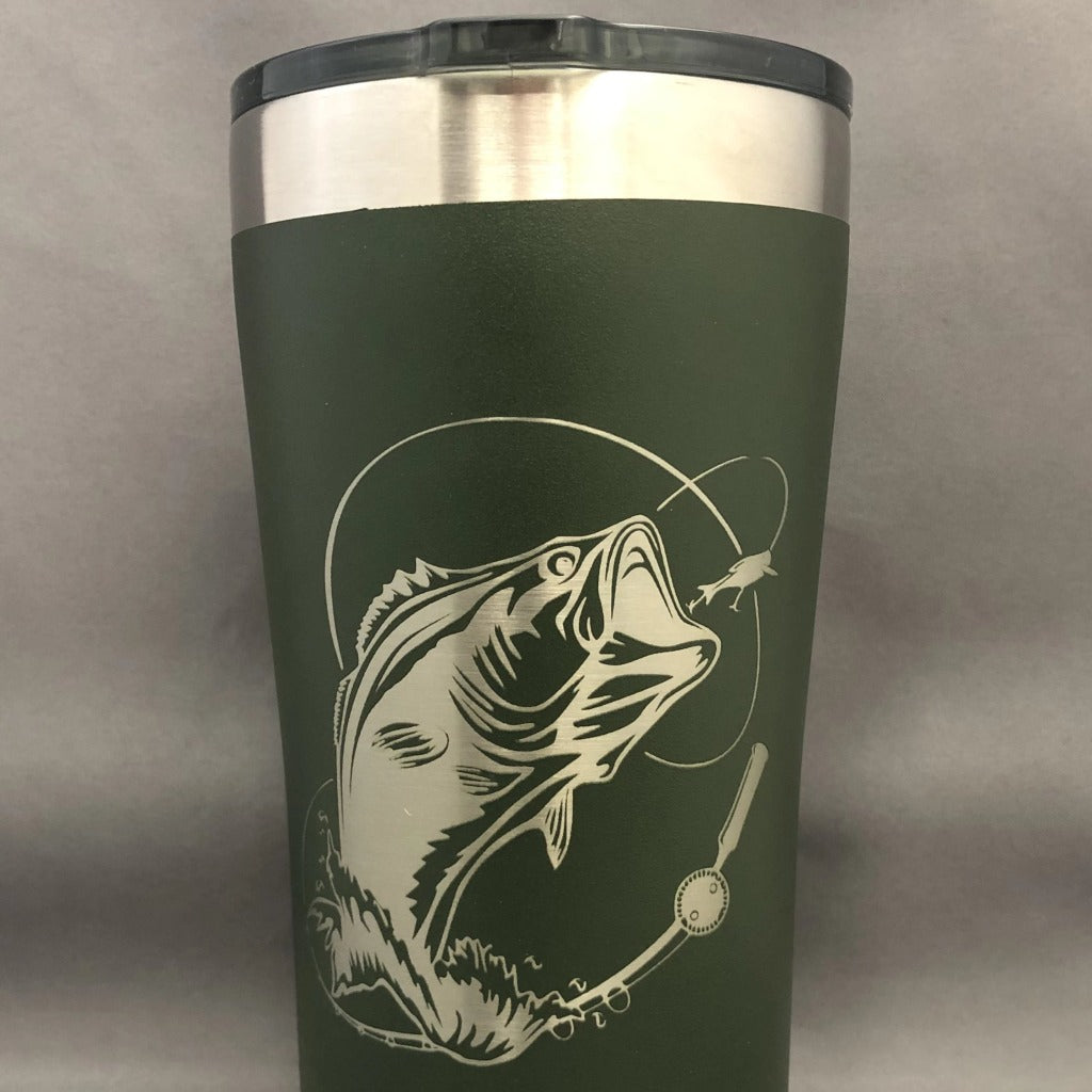 Wide Mouth Bass Tumbler, 20 oz polar
