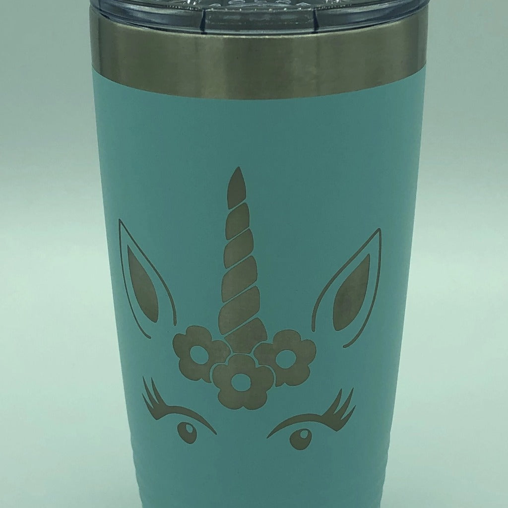 Unicorn Face Tumbler, 20 oz polar