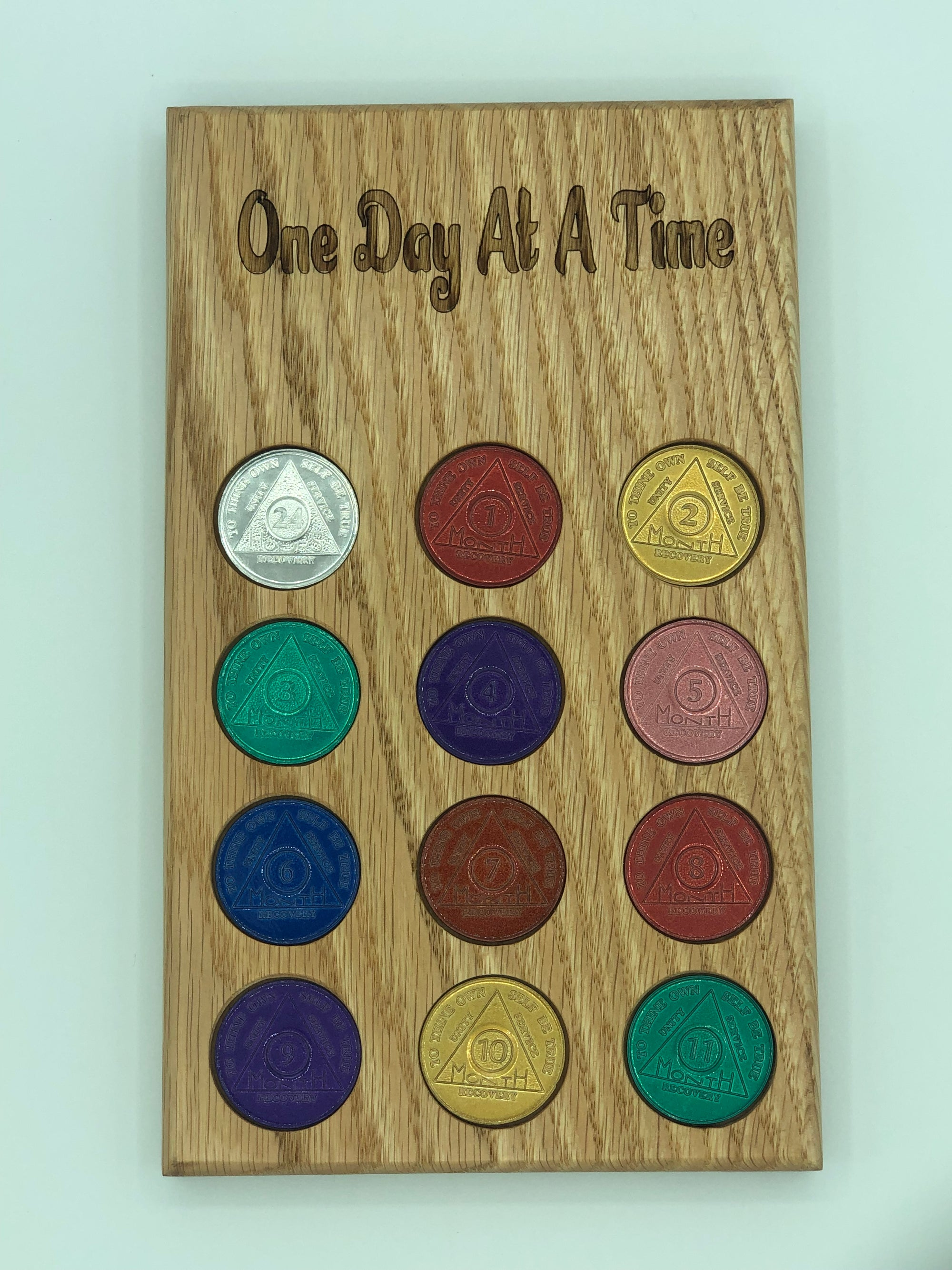 One Day At A Time, AA Coin / NA Medallion Plaque