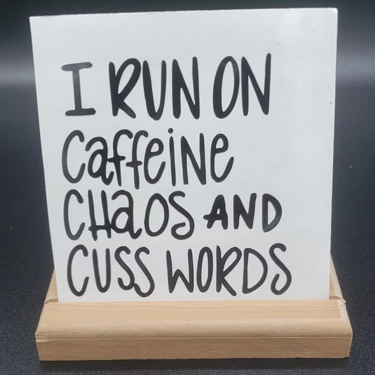 I Run On Caffeine Vinyl Decal