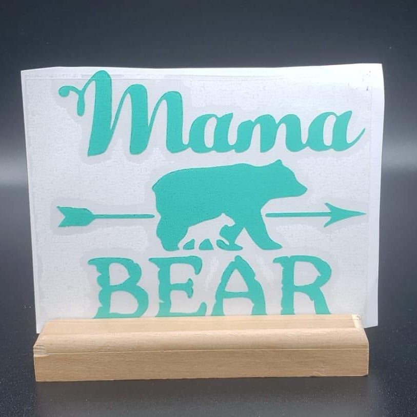 Mama Bear and cub Vinyl Decal