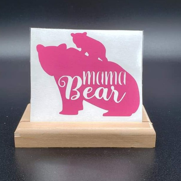 Mama Bear & cub Vinyl Decal