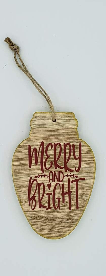 Merry and Bright Small Sign - Ready Made