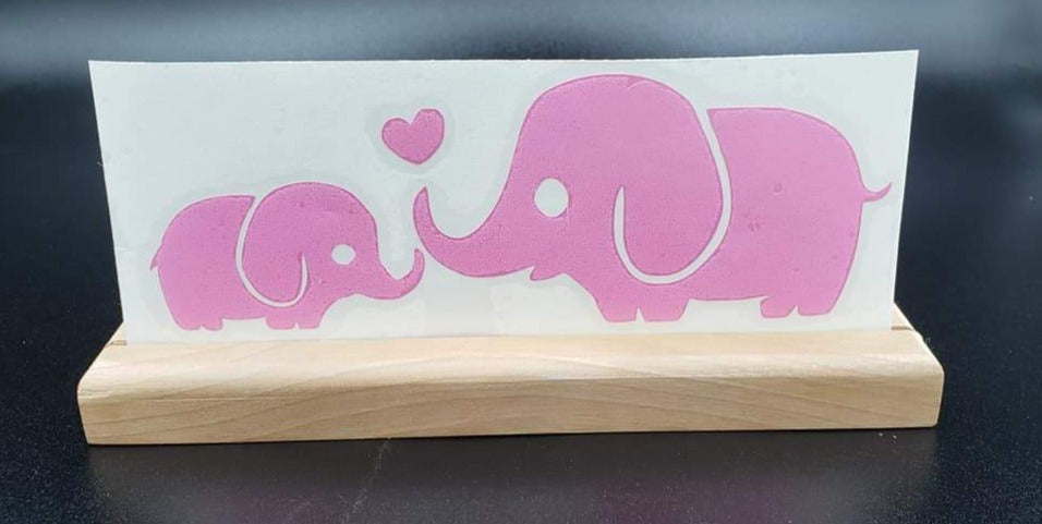 Momma & baby Elephants Vinyl Decal