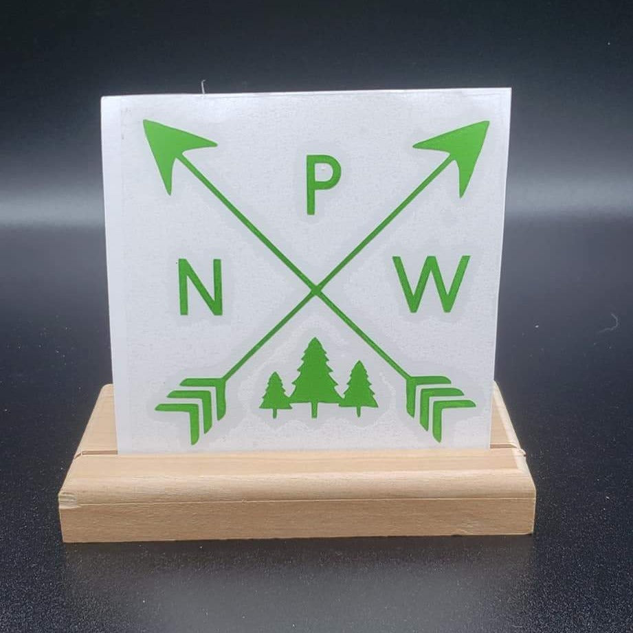 PNW Arrows with Trees Vinyl Decal