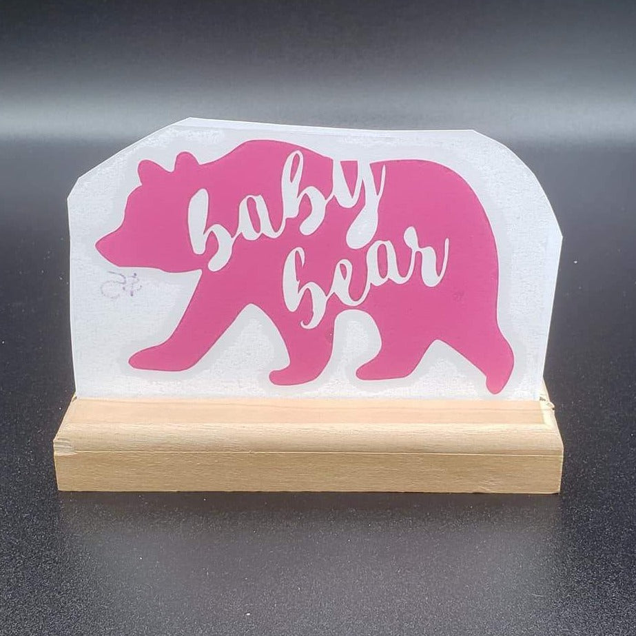 Baby Bear Vinyl Decal