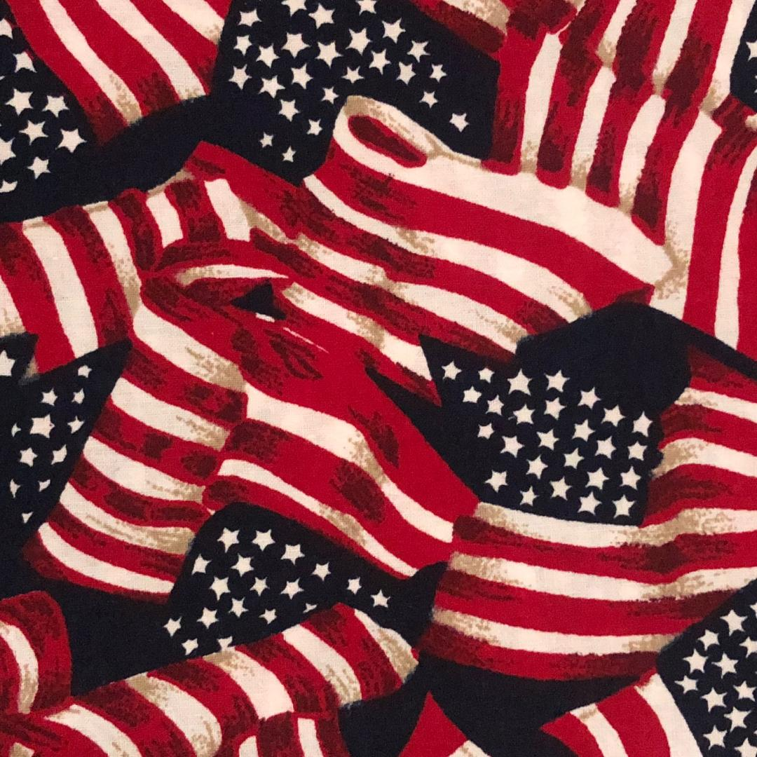 Fabric Face Mask - American Flags