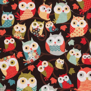 Fabric Face Mask - Owls