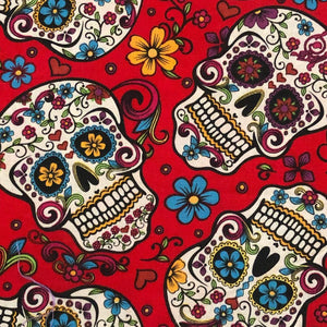Fabric Face Mask -  Red Sugar Skull