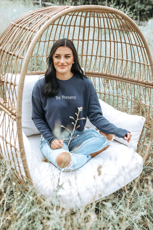Be Present Cropped Crewneck