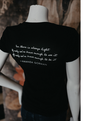 Amanda Gorman For There is Always Light Black T-Shirt