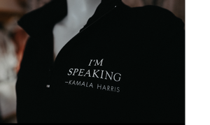 Kamala Harris I'm Speaking 1/4 Zip Black