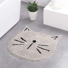 cat bathroom rug