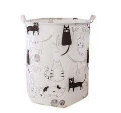 cute cat canvas basket