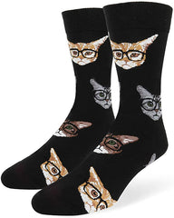 Cat pattern socks for cat dads