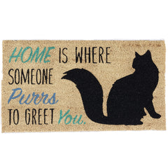 cat welcome mat rug