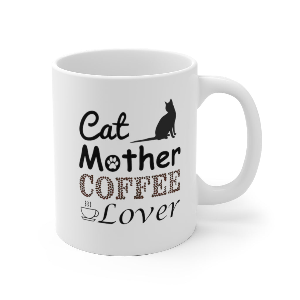 11oz cat mother coffee lover white mug