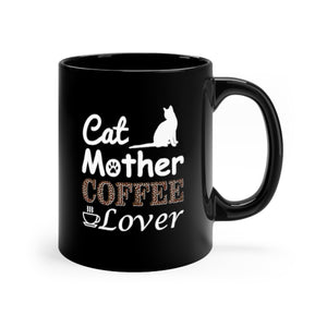 cat mother coffee lover black mug for cat lovers