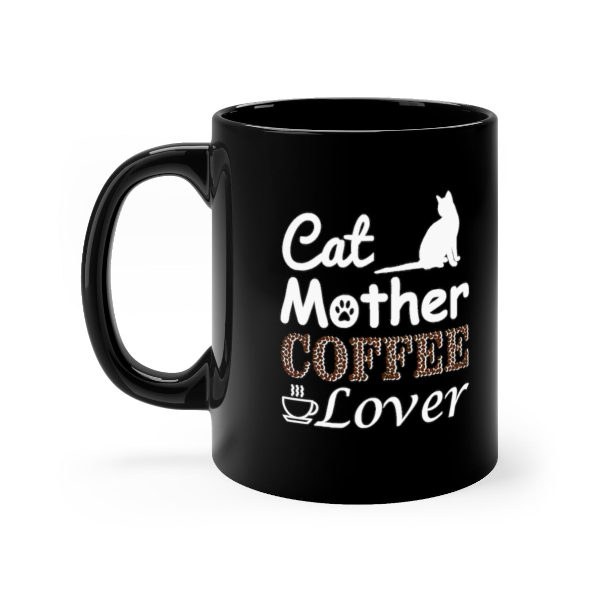 cat mother coffee lover black mug