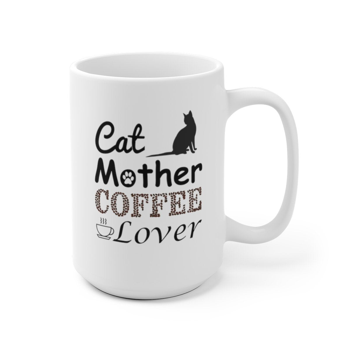 15oz cat mother coffee lover white mug